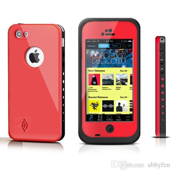 Redpepper الفلفل الأحمر مقاوم للماء ضد الصدمات حالة للحصول على اي فون 4 4S 5 5S 5C حالة مع التغليف التجزئة العديد من الألوان