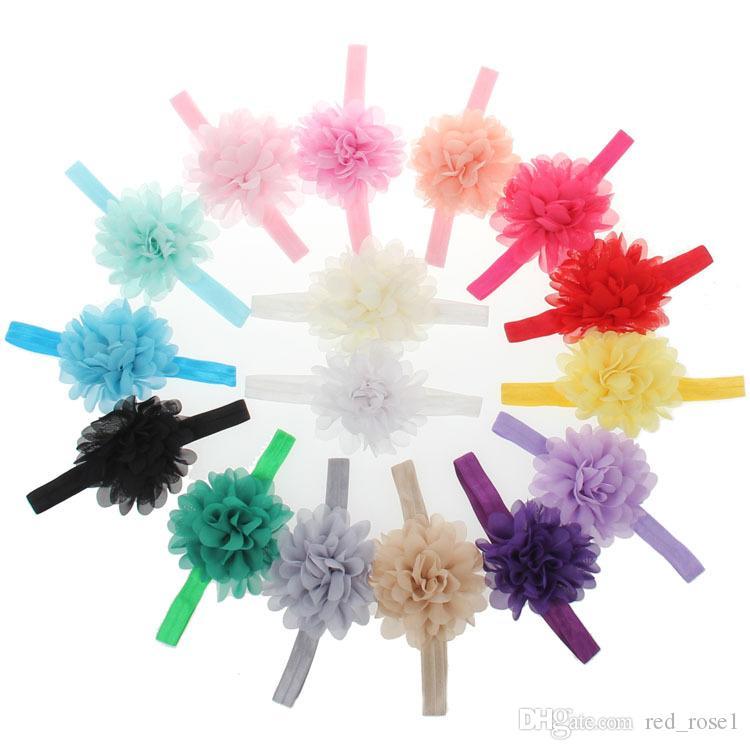 Bambini Bambina Accessori capelli Accessori capelli Band Big Tessuto Fiore Fasce bambini Acessorios Para Cabelo Shabby Faixa de Cabelo Accessori