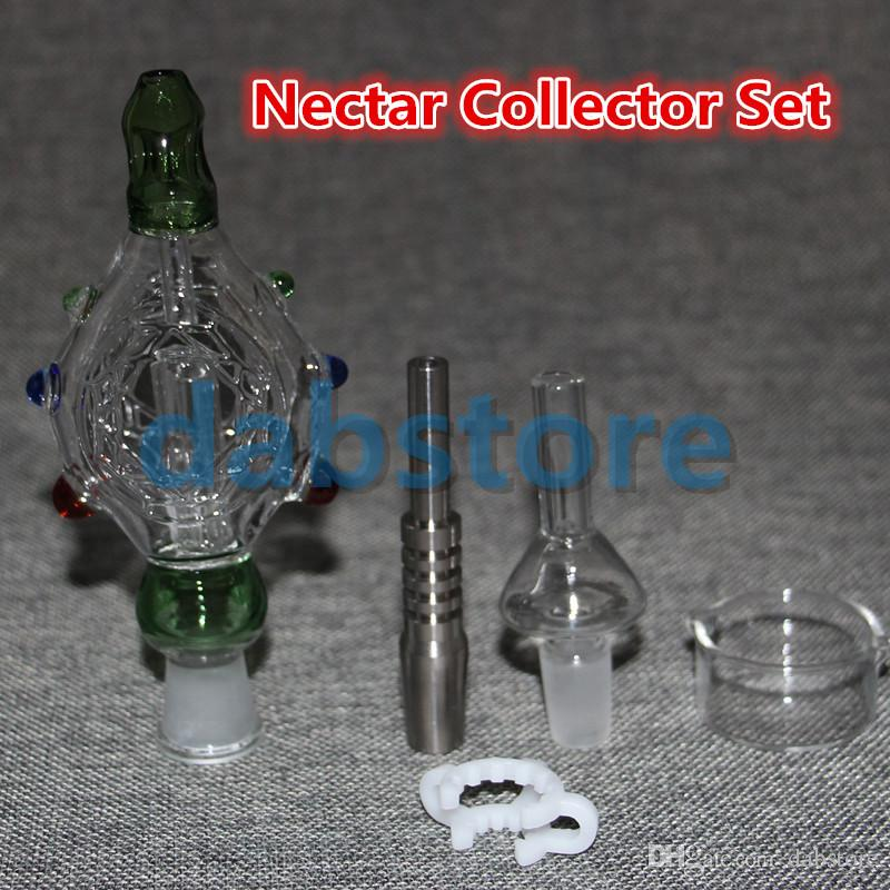 DAB 14MM Nectar Collector KITS honey straw Glass pipe water pipes 2.0 glass dish NECTAR COLLECTOR HONEY STRAW KIT OIL HOOKAH