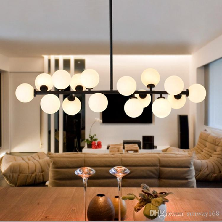 Discount G4 Modo Gold Body Fixture Modern Led Bubble Chandelier