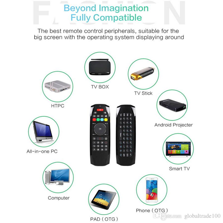 G7 2,4 GHz Fly Air Mouse Funk-Tastatur-Fernbedienung mit IR-Lernfunktion für Android-TV-Box Smart Set-Top-Boxen
