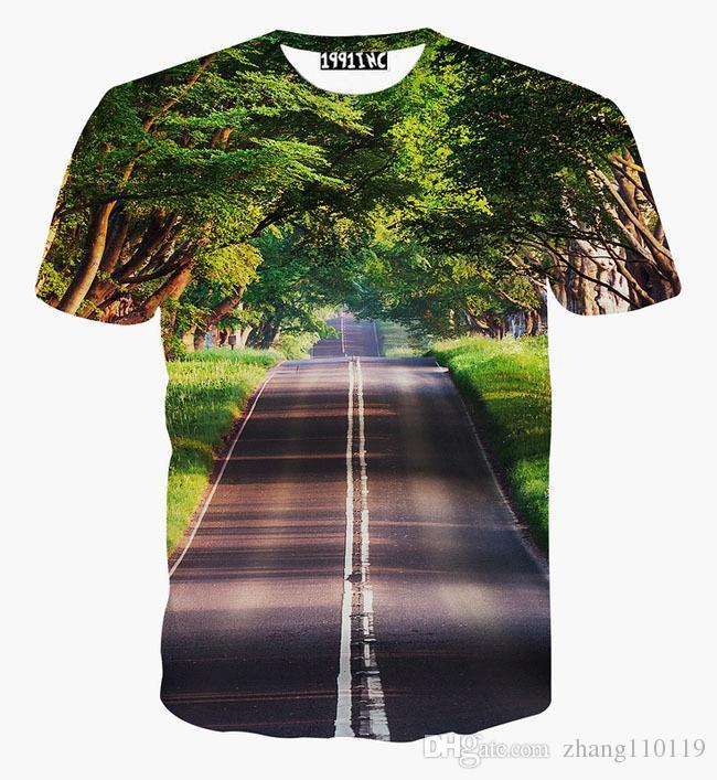 Tshirt Nice Scenery T Shirt For Men/Women 3d Tshirt Print Green ...