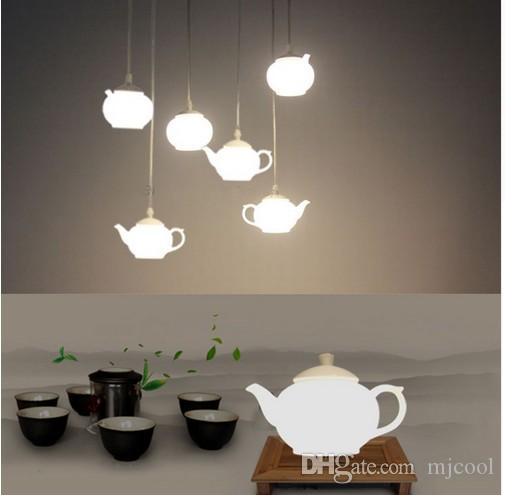 Loft Czajnik Drop Light Akrylowe Sufitowe Wisiorek Oprawa Światła Lampa Lampa Aluminium Home Corridor Loft Decorate Store Cafe
