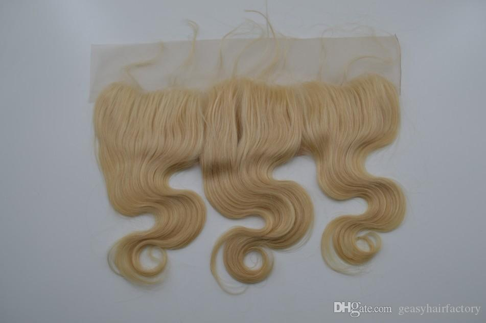 Ear To Ear Lace Frontals Closure Bleached Knots Peruvian Cheap Body Wave 613# Top Closure Human Hair Closures LaurieJ Hair