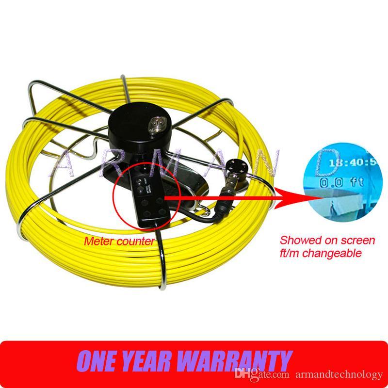 نظام الأنابيب التفتيش المجاري كاميرا 512 هرتز الارسال محدد dvr كابل عداد 8 جيجابايت بطاقة sd الصناعية فيديو المنظار 710DLC