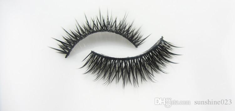 Venta caliente SHILINA Marca Maquillaje Belleza 10 Par / set Moda Natural Pestañas Falsas Largas Gruesas Crisscross Fake Eye Lashes Extensión
