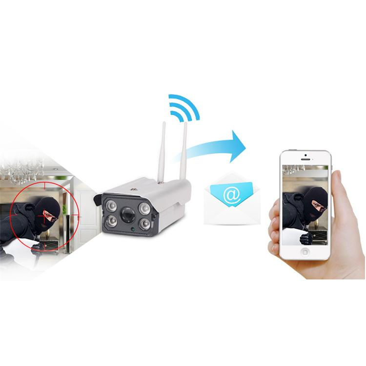Wifi IP Camera Email Notification 200w px Motion Detection FTP Upload Wireless IPC with 4 30m IR Lamp for Android IOC PC RH-HS-W4