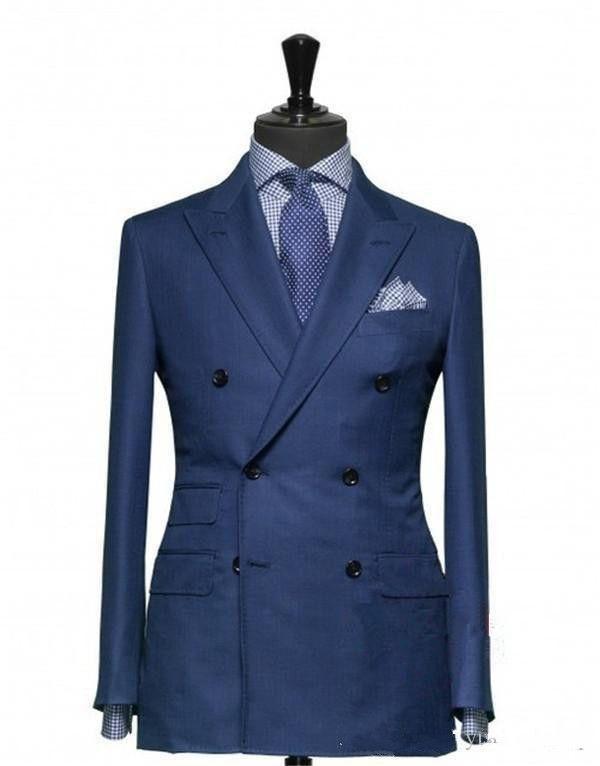 Doppelreimiger Bräutigam Smoking Jacke + Hose + Weste Hochzeitsanzug für Männer Mens Mode Tux Smoking nach sechs Bräutigamanzüge --- G012