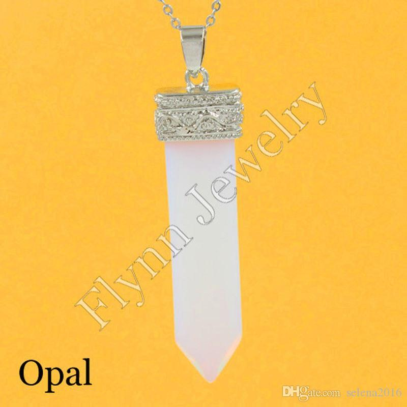 2016 Rock Crystal Quartz Malachite Opal Various Natural Stone Sword Reiki Pendant Charms Super Energy Healing Chakra Amulet