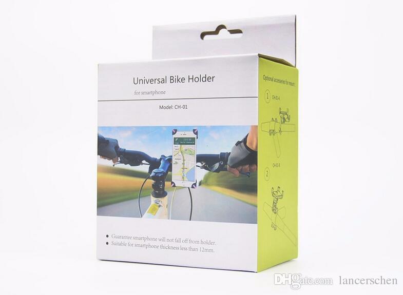 Accessori biciclette Accessori manubrio Supporto bicicletta Supporto bici cellulare Supporto iPhone 4 4S 5 5s 6 6s plus Custodia Samsung