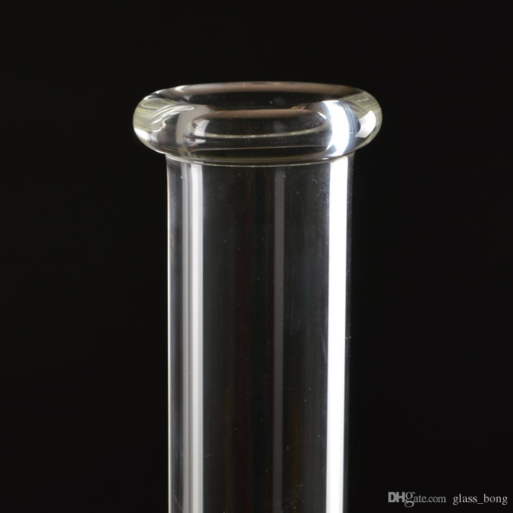 Tres capas de nido de abeja y jaula de filtro de vidrio de alta calidad bongs tuberías de agua recogedor de cenizas reciclador plataformas petroleras Altura 45 mm Tamaño Jonit 18 mm