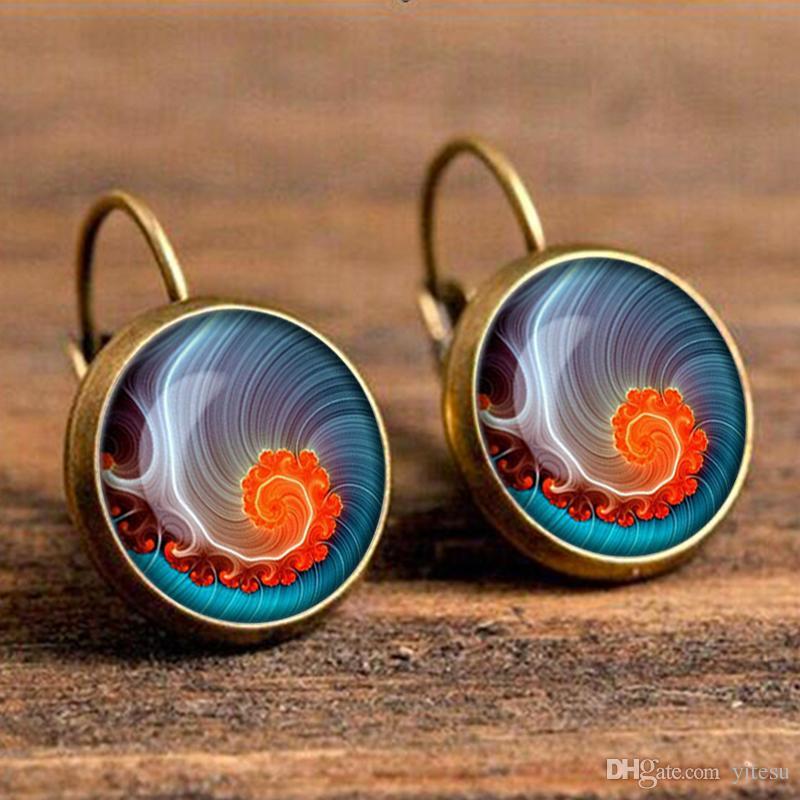 Pendientes vintage joyas para mujeres clásico original artes om símbolo Zen budismo henna mandala yoga pendientes par