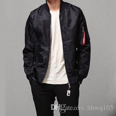 2017 New Pilot Flight Jacket Men'S Green Black Bomber Jackets ...