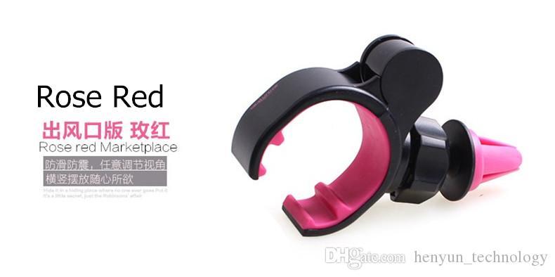 coloré téléphone portable universel 360 angle réglable support de sortie de ventilateur de voiture air vent mount