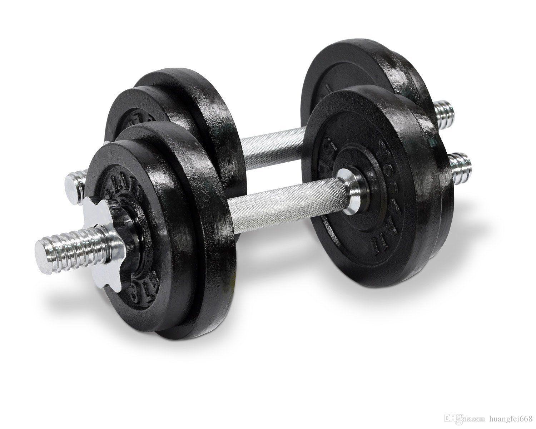 a1e1d22dcd1 2019 Cast Iron Adjustable Dumbbells Set Cap Gym Weight Plate Fitness ...