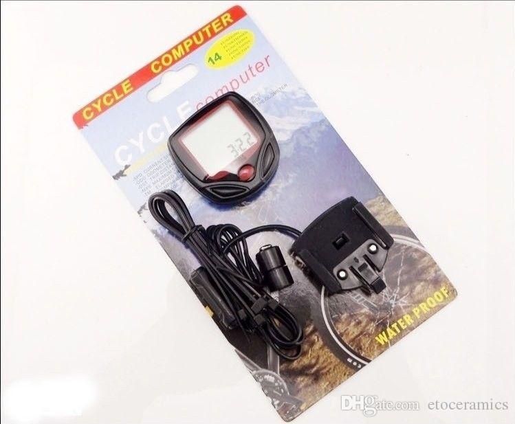 2016 Darmowa Wysyłka Facicry Direct Hot Sprzedaż Cyfrowy Wodoodporny Sport LCD Wielofunkcyjny Komputer rowerowy Prędkościomierz prędkościomierz