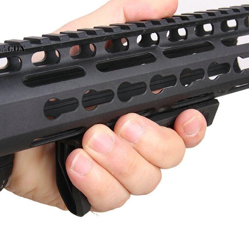 KeyMod Nylon fait ergonomie M O E de style poignée M-LOK foregirp airsoft AR15 commande de rail de garde-main