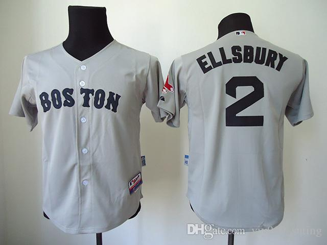 official photos b33dc 7b6a2 boston red sox 2 jacoby ellsbury gray kids jersey