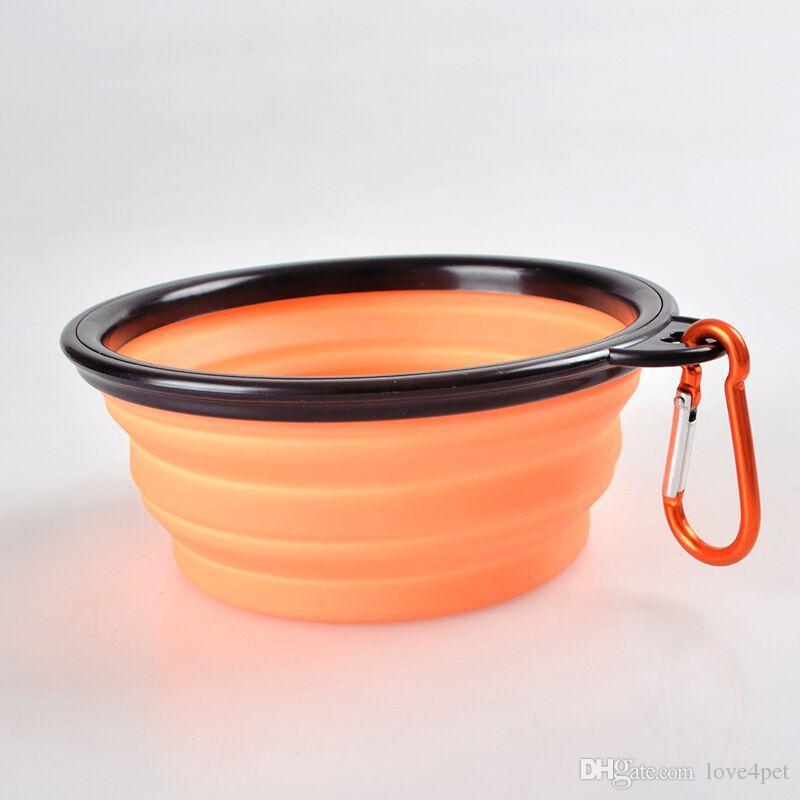 D13 Nouveau bol pour chien de compagnie en silicone bol bol pour animaux de compagnie se pliant portable bols pour chiens bols pour chats livraison gratuite