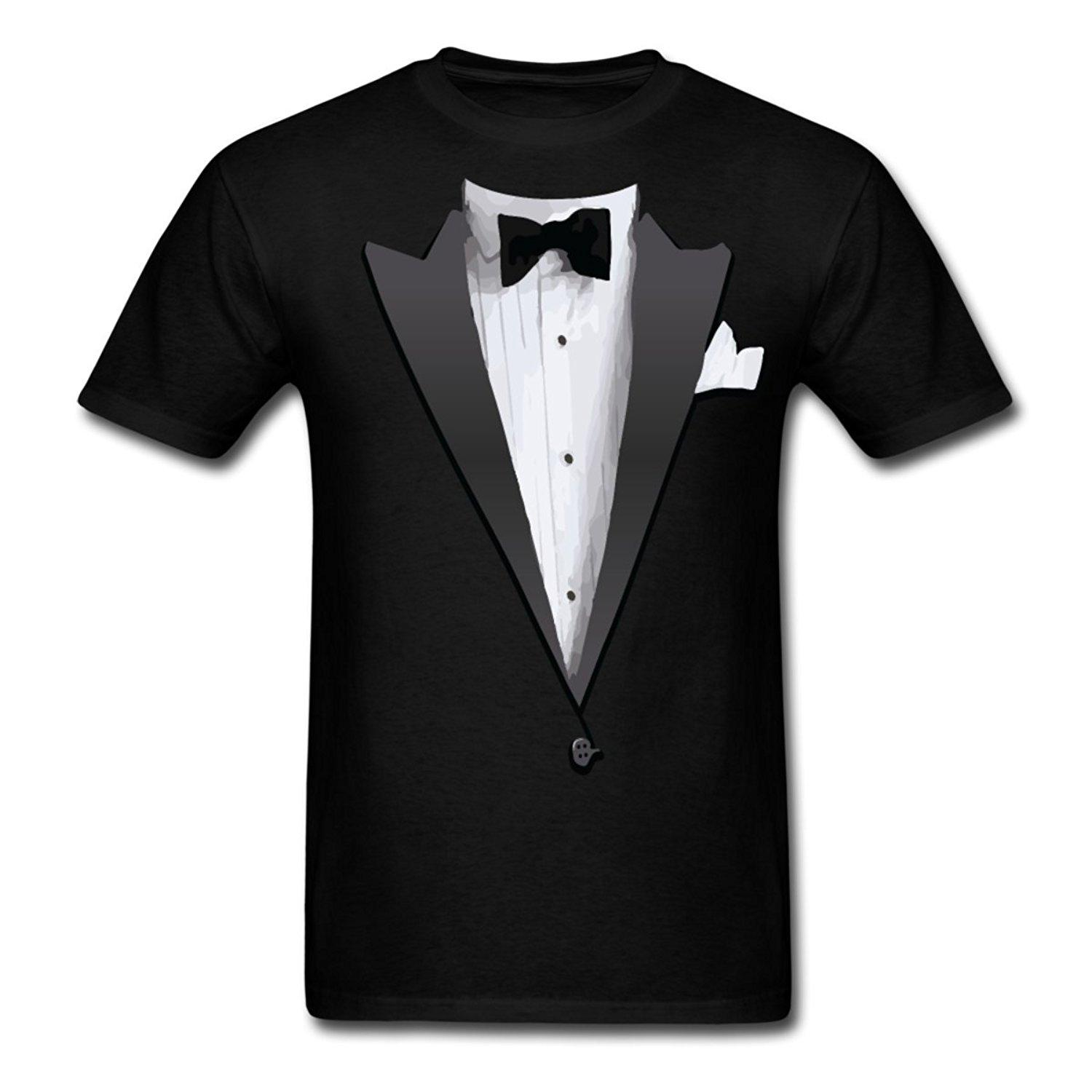 21dc3a28c Tuxedo Costume Bow Tie Men's T-Shirt T Shirts Man Clothing Free Shipping  Summer Style Hip Hop Men T Shirt Tops Shirt