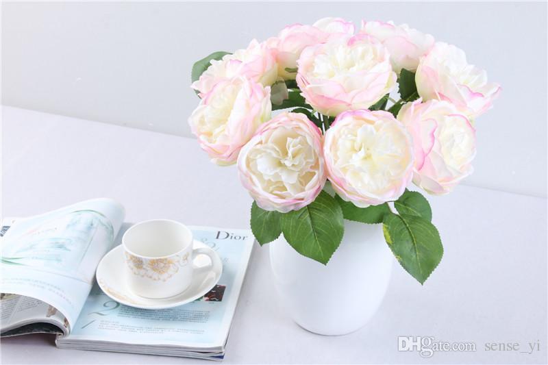 New Spring Artificial Big Rose Silk Flowers Arrangement Wholesale For Home Party Decor Wedding Decoration Flores Artificiales