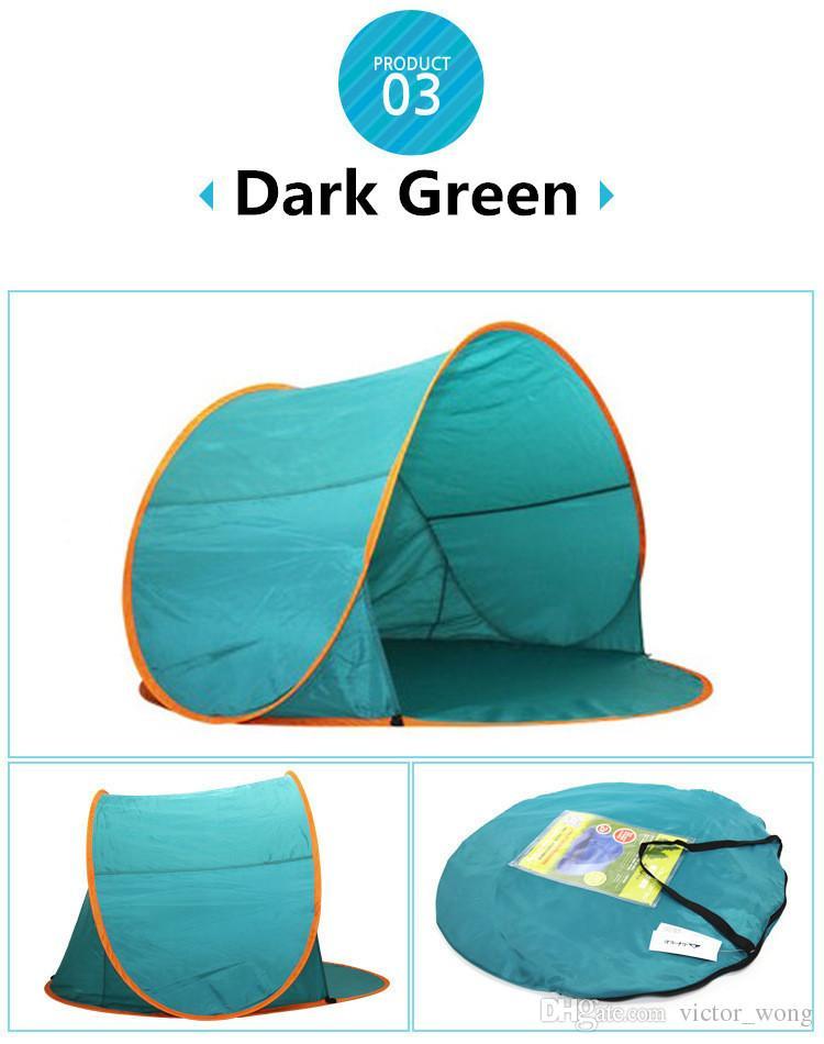 Schiff 3-6 Tage Sommer Wandern Zelte im Freien Camping Unterstände für 2-3 Personen UV-Schutz 30+ Zelt für Strand Reisen Rasen Familienfeier