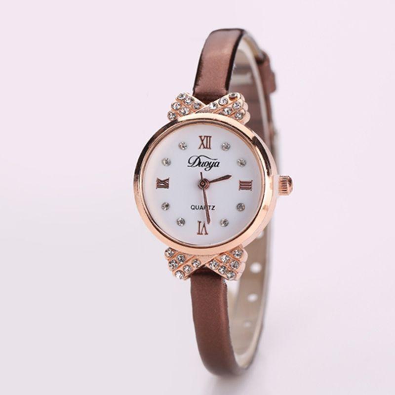 New Fashion Brand Duoya Women Casual Quartz Watch Clock Lady Girl Diamond Analog Dress Watch Relojes Roman Numerals