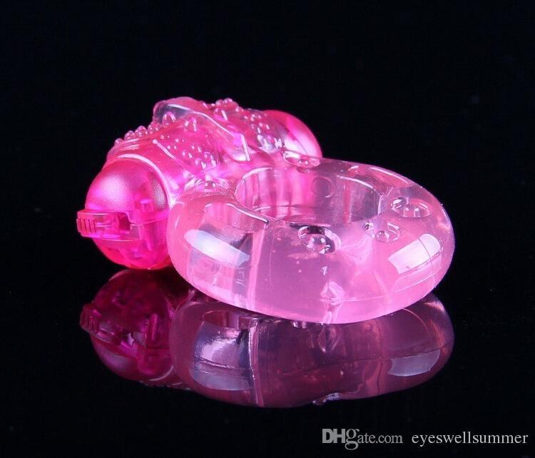 Sex Toys Erwachsene Männer Vibration Kragen Verzögerung Vorzeitige Ejakulation Sperre Feine Schmetterling Hahn Penis Ring Freies verschiffen