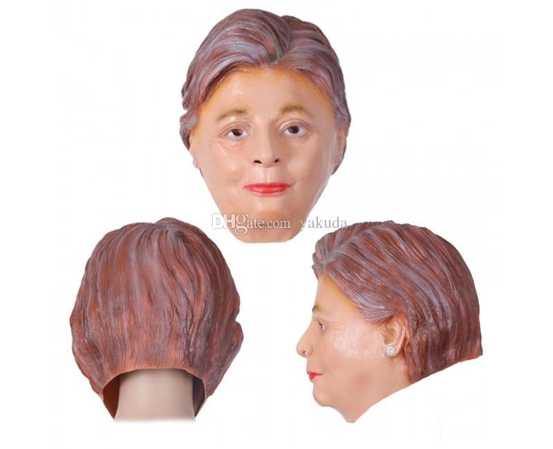 личность смешная маска косплей, тематический костюм маска Хиллари Клинтон, дешевая скидка маска Трампа, новый мужской костюм президентских выборов США унисекс