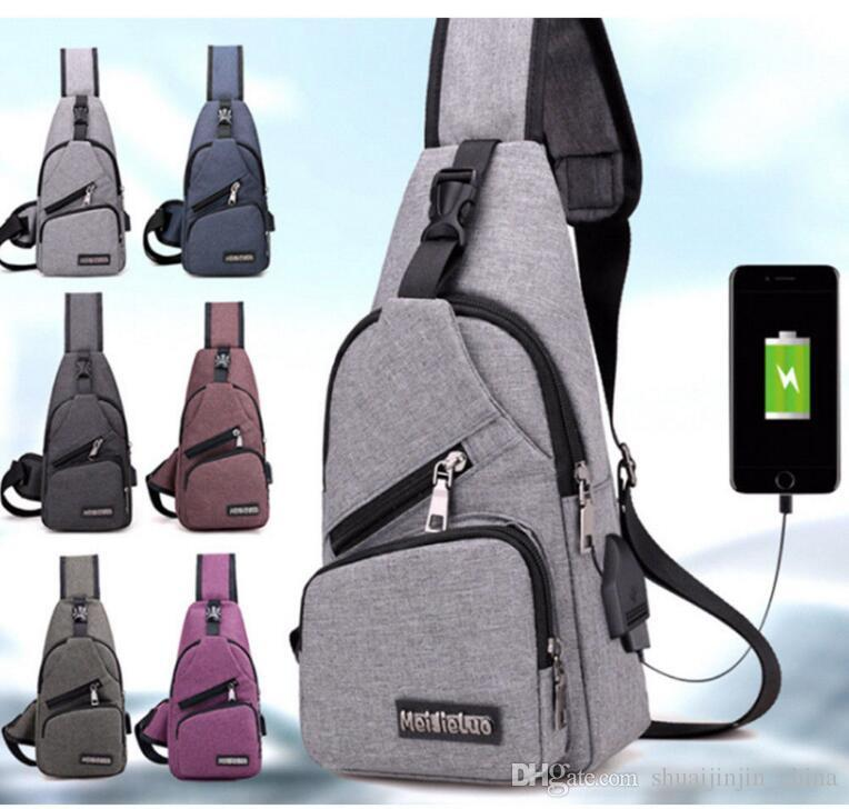 4a5783fcce27 External USB Charge Chest Bags Pack Travel Crossbody Bag For Boys And Girls  Sling Shoulder Bag Travel Sport Purse With USB Charging KKA3157 Leather  Backpack ...