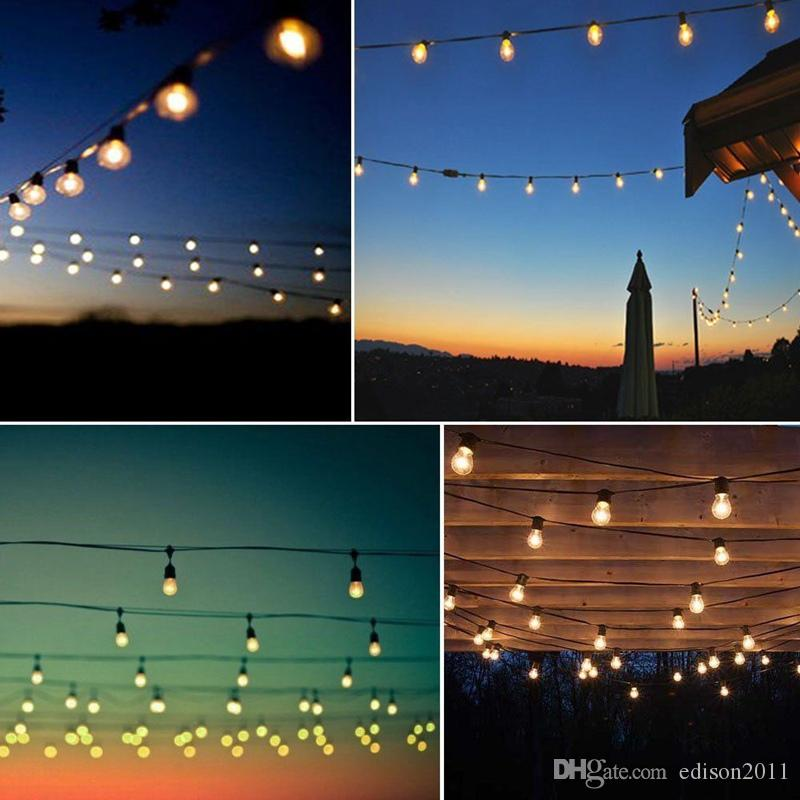 Edison2011 15M 15Leds Waterproof Heavy Duty Outdoor Edison Bulb String Lights Connectable Festoon for Party Garden Christmas Holiday