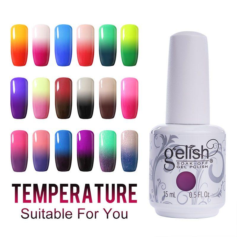 Any Gel Polish Gelish Nail Art Soak Off Uv Led Lamp Temperature Gel