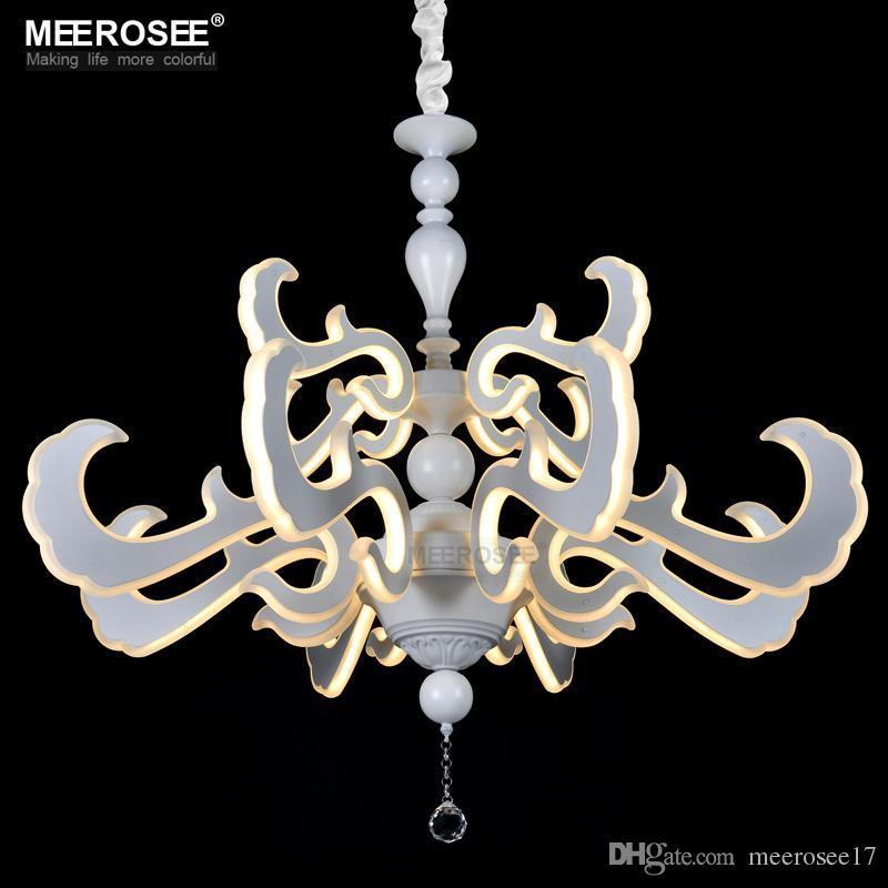 Led New Lighting Art Deco Led Pendant Light Fixture White Acrylic