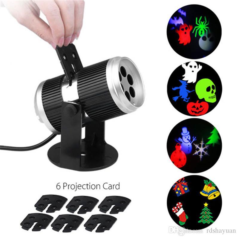 할로윈 반짝 이는 LED 레이저 프로젝터 라이트 홈 가든 야외 크리스마스 트리 스노우 크리스마스 휴일 샤워 조명 장식