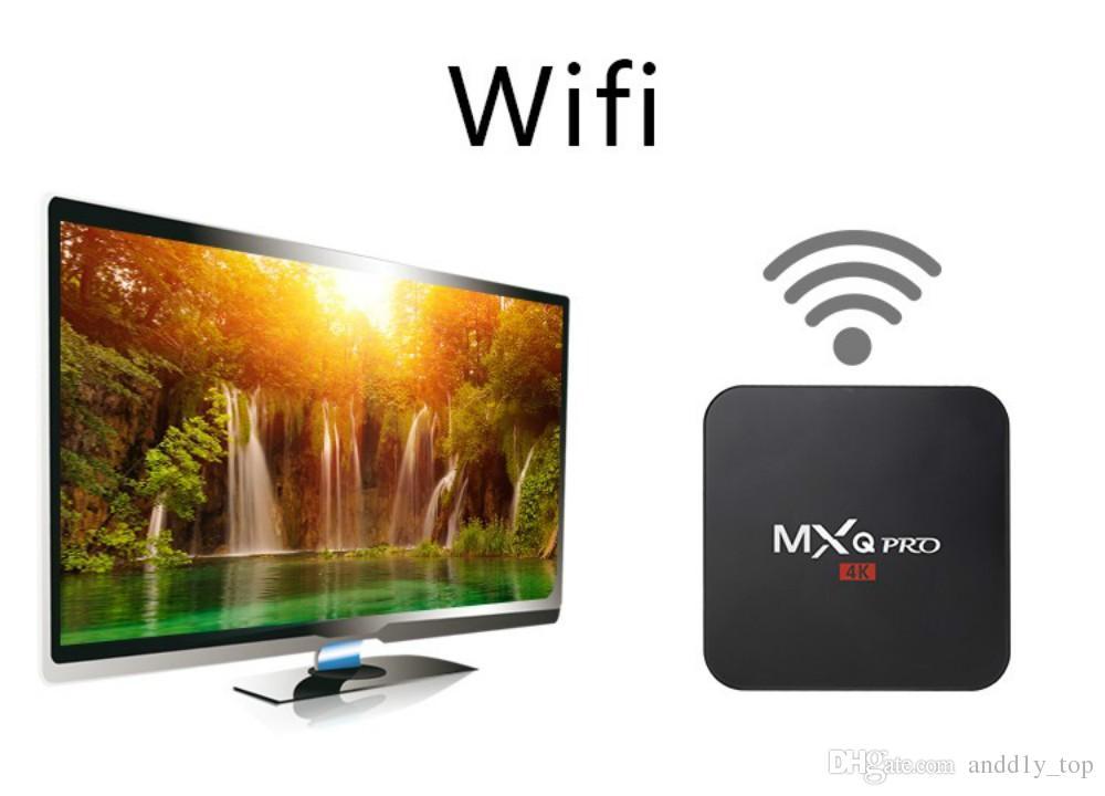 2GB di RAM rk3229 mxq pro 4K Ultimate HD Android 7.1 smart tv box 8gb Quad Core 2.0GHz Decodifica hardware WIFI Miracast