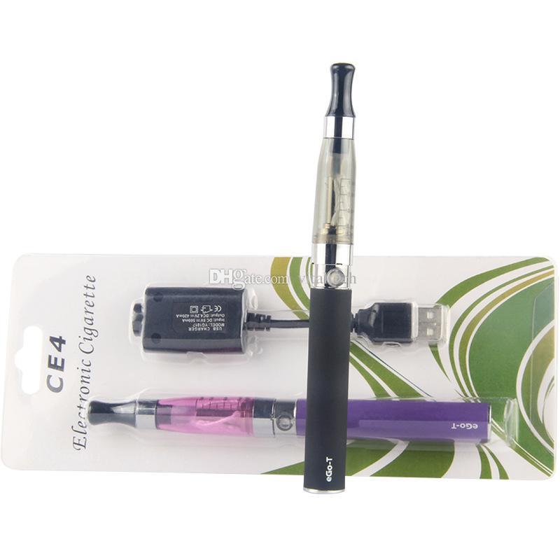 e cig eGo CE4 starter kit Single CE4 Blister Kits 650mah 900mah 1100mah EGO-T Battery CE4 Clearomizer Atomizer vaporizer vape pen DHL