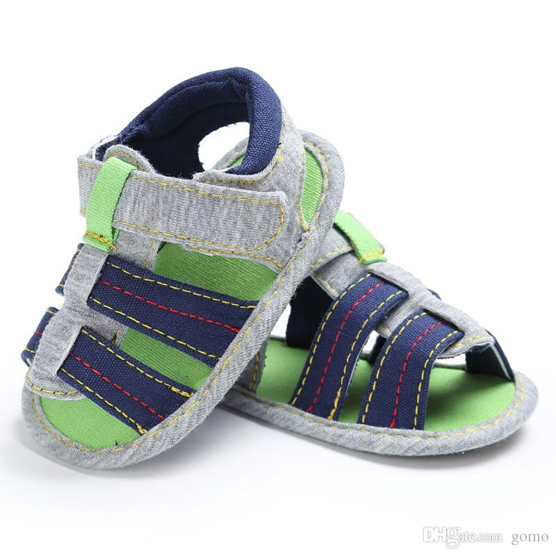 Baby Boys Summer Prewalker Soft Sole Genuine Leather Beach First Walkers Summer Shoes Boys Soft Leather First Walkers