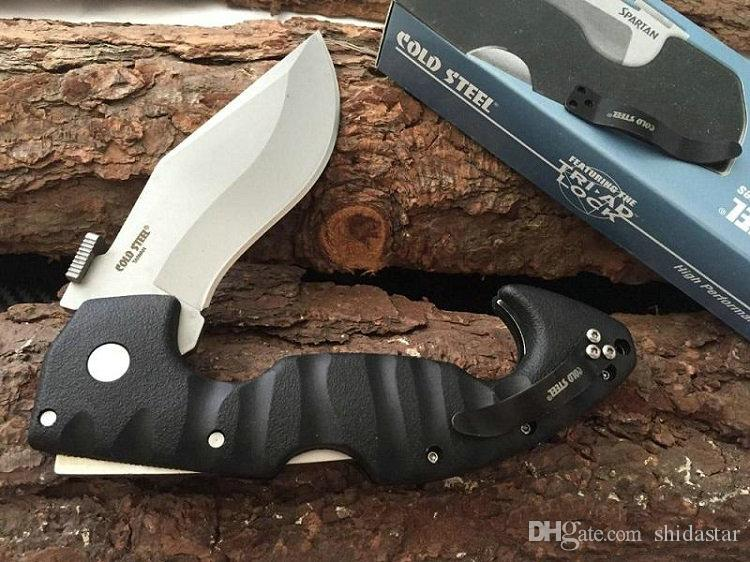 COLD STEEL Spartan Dogleg Folding Knife Aus-8 Blade Grivory Handle Tactical Camping Hunting Survival Pocket Knives Xmas EDC Tools Collection