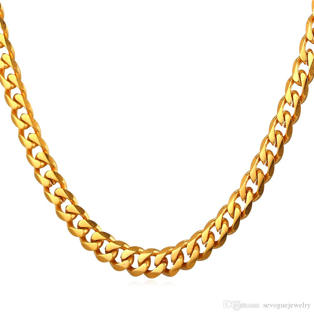 sizes herringbone mm necklace men itm gold bonded new pvd s woman chain chains jewelry mens ebay