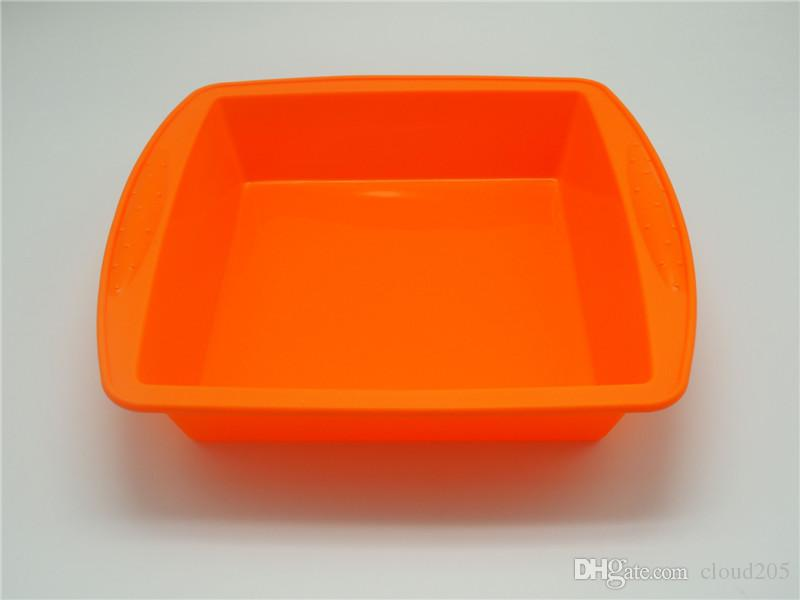 Square Pan 8.7'' Non Stick Silicone Pastry Tools Container Concentrate Oil BHO dish