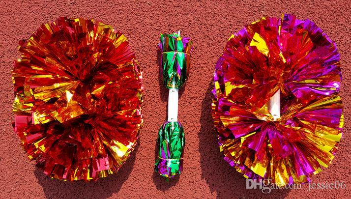 Fête carnaval acclamations pom pom poignée en plastique cheerleading fleur danse main balle sports concert vocal pom-pom girls balle fournitures de fête