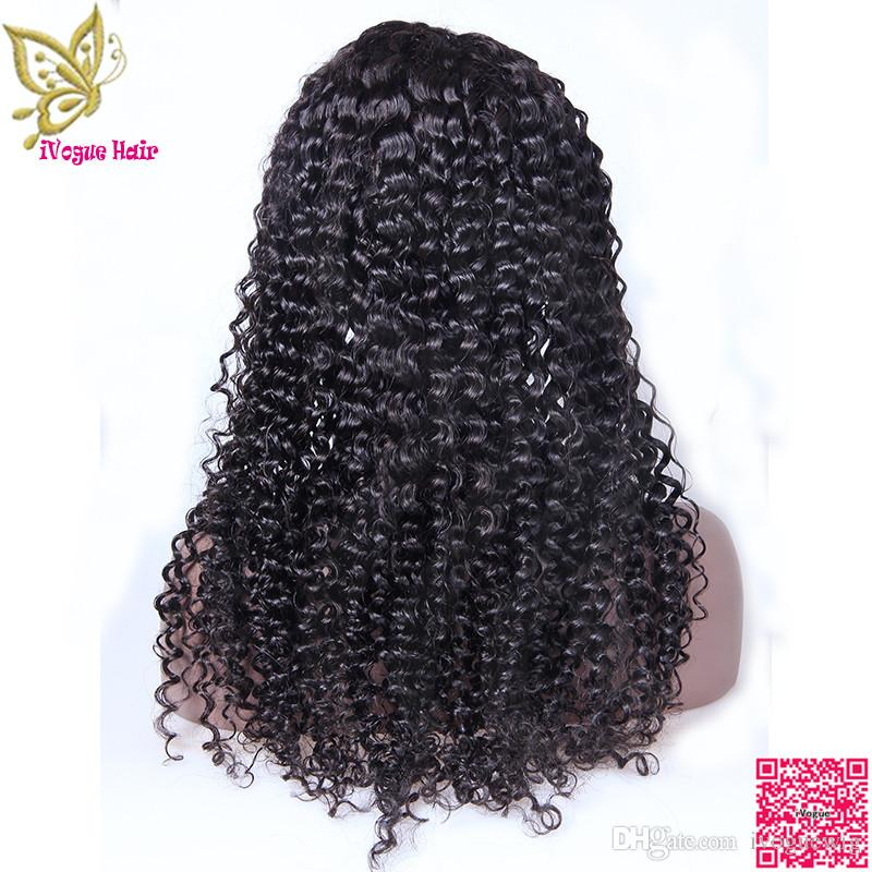 Lace Front Human Hair Wig Kinky Curly Brazilian Human Hair Full Lace Wig For Black Women Grade 6A Lace Front Human Hair Wigs
