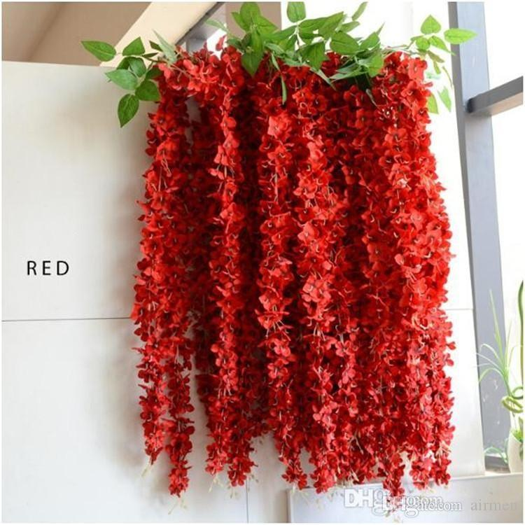 1.6 Meter Long Pretty Artificial Silk Flower Wisteria Vine Rattan For Wedding Party Decorations Bouquet Garland Home Ornament Free ship