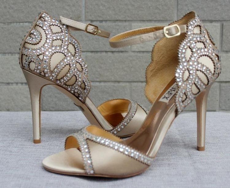 Blue Champagne Wedding Shoes 2017 Bridal Heels Evening For Prom Party Dinner Designer Ivory