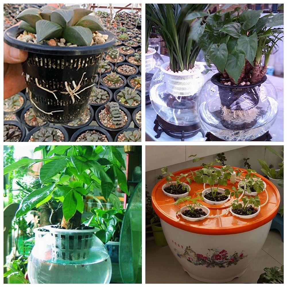 3inch Heavy Duty Maille Pot Net Coupe Légumes Grandir Panier Fleur Plante Hydroponique Aéroponique Planter Grandir