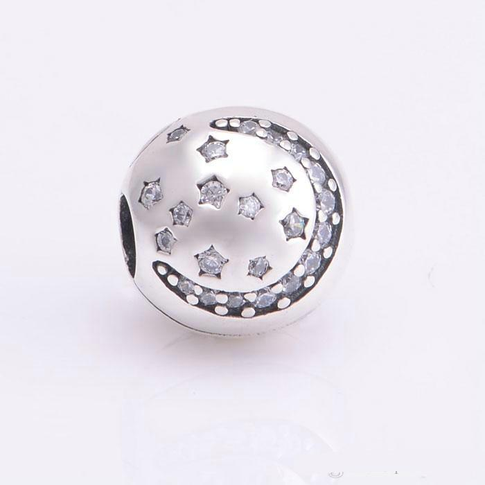 Christmas star clips charms S925 sterling silver jewelry fits for pandora bracelets antique KT086-NH9