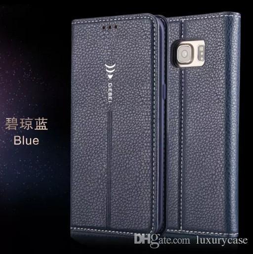 Nobre grau gebei para samsung s7 case flip capa carteira de luxo original colorido fino estojo de couro para samsung galaxy s7 g930 g9300