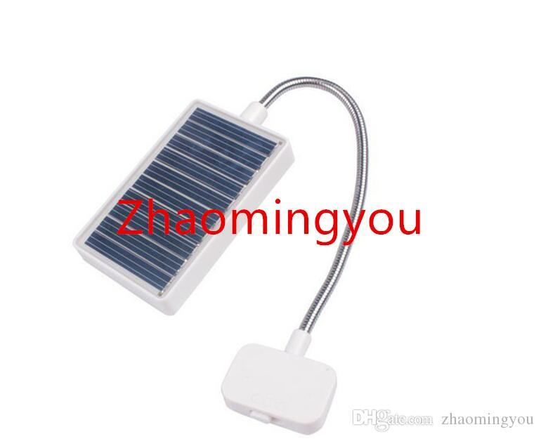 Solar Mini Flexible Clip On Reading Light Solar / USB Charging Lamp Solar Powered Reading Emergency Light Table Lamp For Reader