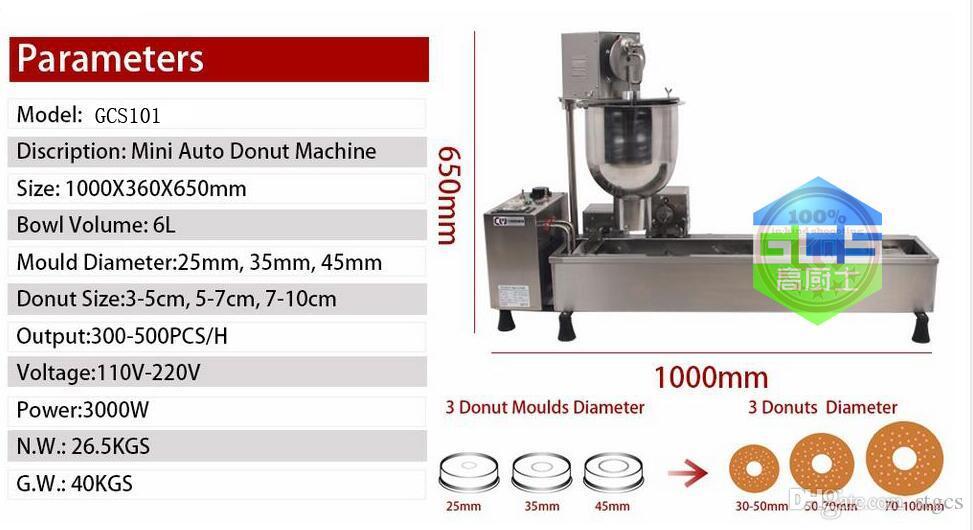 Ücretsiz Kargo Ticari Tam Otomatik Çörek Makinesi 110 V 220 3000 W Paslanmaz Çelik Çörek Makinesi 3 Kalıp ile Gel