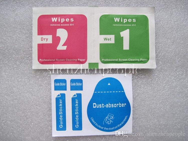 Atacado Ferramentas de Limpeza Wet Dry 2 em 1 Limpe Poeira-Absorvente Guia Adesivo Para Protetor de Tela De Vidro Temperado